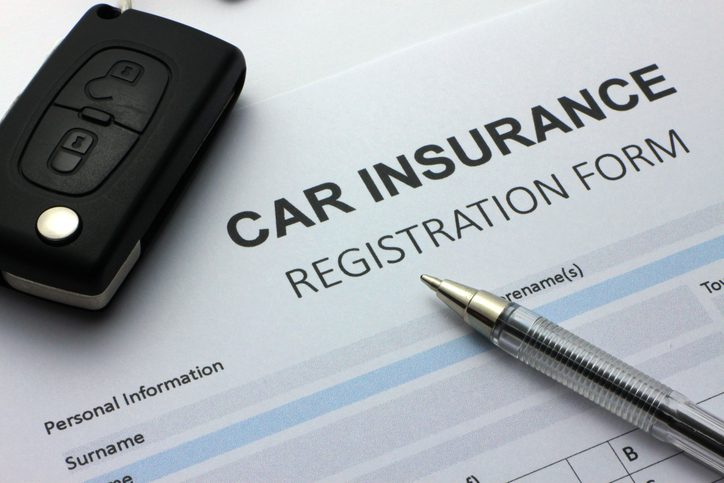 Gill Insurance   Blank car insurance forms with generic car keys in shot.