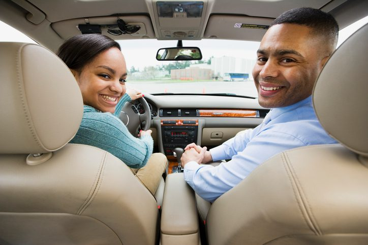 Gill Insurance | Teenager in car with father